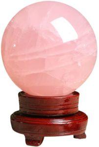 01-Bola de Cristal Rosa Meditación - 8cm