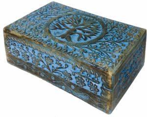 01-Caja para tarot Árbol Vida azul