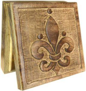 01-Caja para tarot Flor de Lis