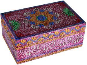 01-Caja para tarot floral multicolor